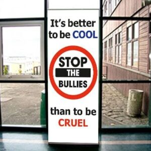'It's better to be Cool, than Cruel' Pull Up Banner