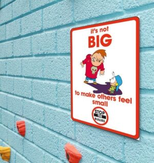 It's not big to make others feel small sign alternate image
