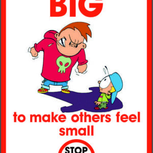 It's not big to make others feel small sign