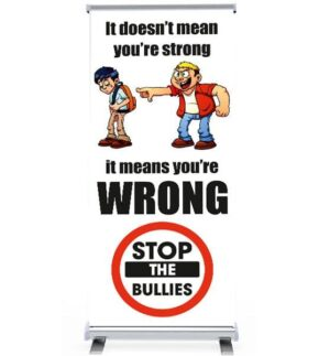'It's not strong its WRONG' Pull Up Banner alternate image