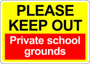 Keep Out School Grounds alternate image