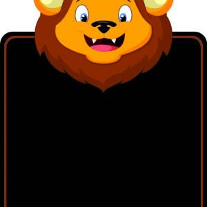 Lion Topped Chalkboard alternate image
