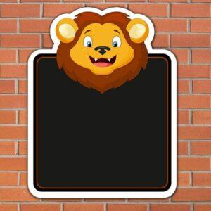 Lion Topped Chalkboard