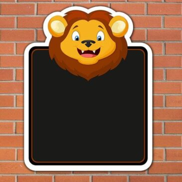 lion-topped-chalkboard-size-915mm-x-713mm-5mm-pvc-wall-fixing-2783-p