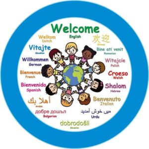 Multicultural Welcome Perspex Sign alternate image