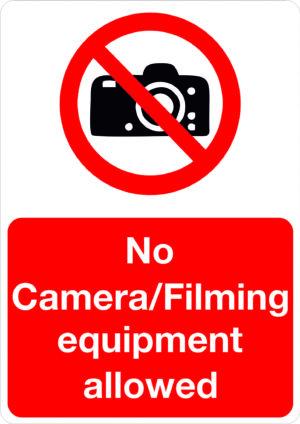 No Camera / Filming Equipment alternate image