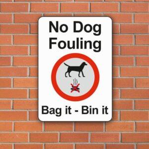 No Dog Fouling Bag it - Bin It sign