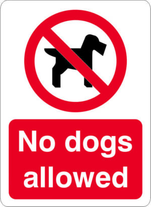 No Dogs Allowed Sign alternate image