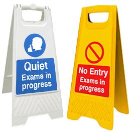 No Entry - Exams In Progress Plastic Floor Sign alternate image