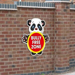 Custom Panda Bully Free Zone Sign