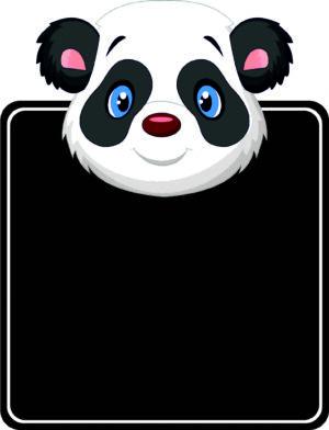Panda Topped Chalkboard alternate image