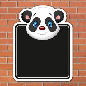 Panda Topped Chalkboard