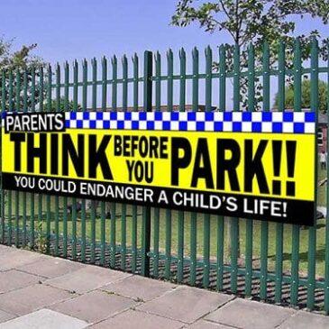 PARENTS Child Safety School PVC Banner