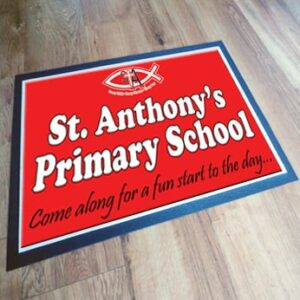 Printed custom school floor mat