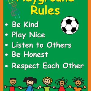 Playground Rules Sign alternate image