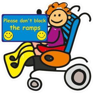 Playground Wheel Chair Safety Sign alternate image