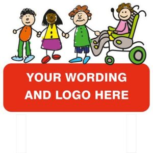 Custom Post Mounted Child Friendly Signs alternate image