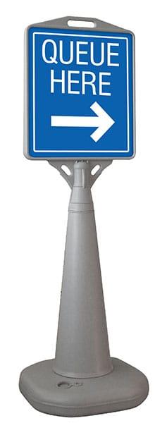 Queue Here Sign alternate image