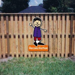Reconciliation Core Value Kiddie Sign