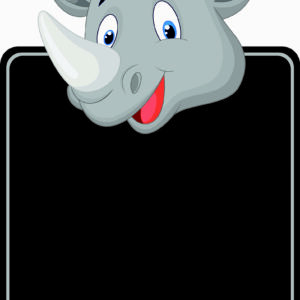 Rhino Topped Chalkboard alternate image