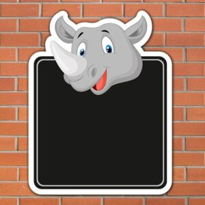 Rhino Topped Chalkboard