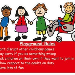 Playground Rules Kiddies Sign alternate image