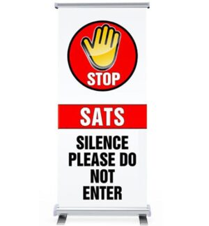 Sats Silence Pull Up Banner alternate image
