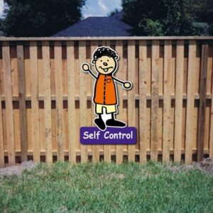 Self Control Core Value Kiddie Sign