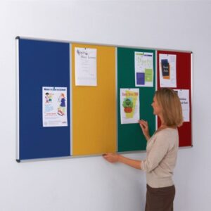 Shield Multi-banked noticeboards