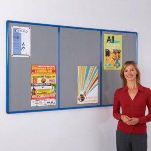 Shield Resist-a-frame Multi-banked noticeboards