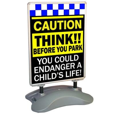 road safety children caution