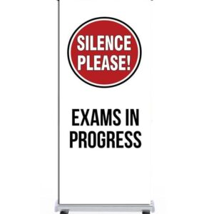 Silence Please Exams in Progress Pull Up Banner alternate image