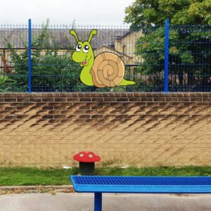 snail-fun-character-aluminium-wall-fence-sign-how-would-you-like-to-fit-the-sign-large-version-for-fence-fixings-138-p