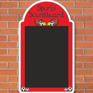Sports Score Chalkboard