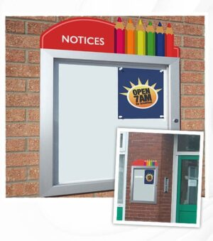 Tall Pencil Poster Case with Notice Pencil Topper alternate image