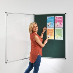 Tamperproof noticeboard with fire retardant cloth alternate image