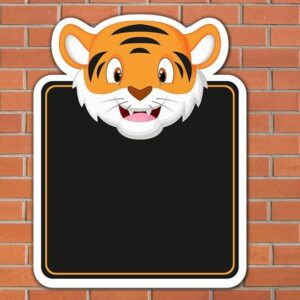 Tiger Topped Chalkboard
