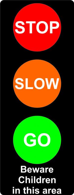 Traffic Light 'Stop Slow Go' Sign alternate image