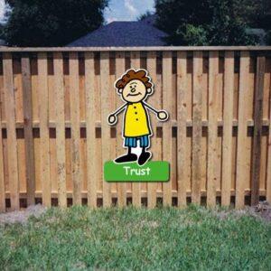 Trust Core Value Kiddie Sign