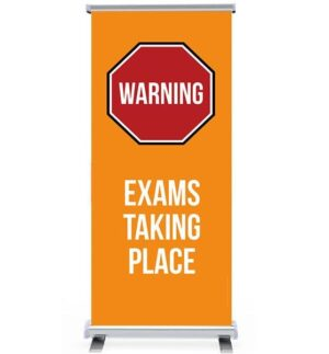 Warning Exams in Progress Pull Up Banner alternate image