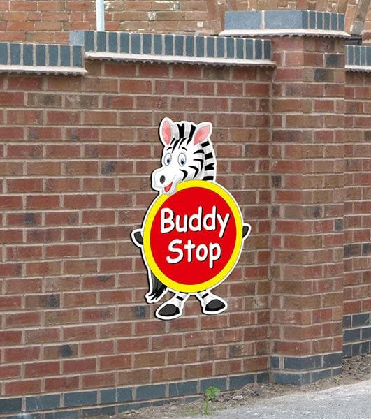 Buddy Stop Sign Kids Funny